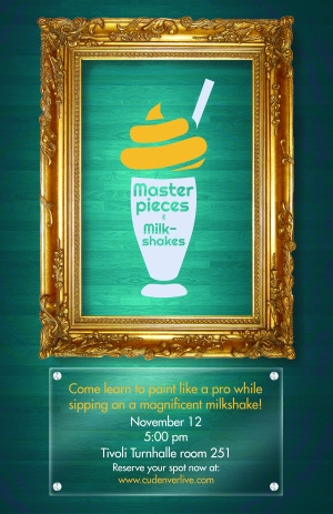 Masterpieces & Milkshakes Poster