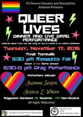 queer lives flyer